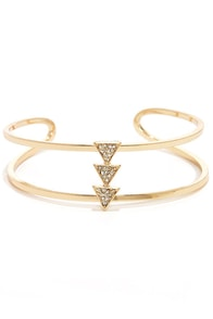 Cuff and Ready Gold Cuff Bracelet at Lulus.com!