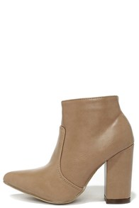 Take the Lead Taupe Pointed Toe Booties at Lulus.com!