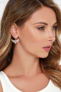 Alhambra Gold and Rhinestone Ear Jackets at Lulus.com!