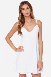 Slip and Stride White Slip Dress at Lulus.com!
