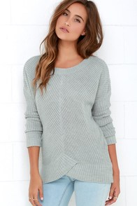 BB Dakota Amity Grey Sweater at Lulus.com!