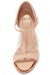 My Delicious Trail Blush Embroidered T Strap Heels at Lulus.com!