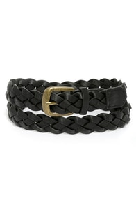Fasten Up Black Braided Belt at Lulus.com!