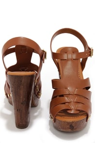 Soda Riane Dark Tan Platform Wedge Sandals at Lulus.com!