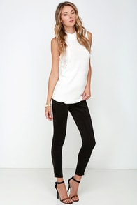 Call a Spade a Suede Black Suede Leggings at Lulus.com!