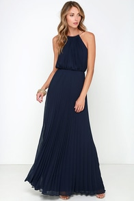 Bariano Melissa Navy Blue Maxi Dress at Lulus.com!