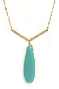 Pendulum Swing Turquoise Pendant Necklace at Lulus.com!