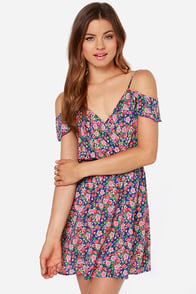 My Beau-quet Royal Blue Floral Print Dress at Lulus.com!