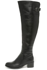 All Over It Black Over the Knee Boots at Lulus.com!