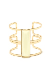Stepping Stone Cream and Gold Bracelet at Lulus.com!