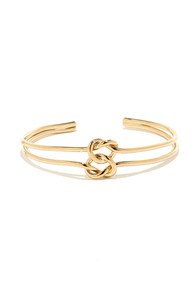 Twice as Knotty Gold Bracelet at Lulus.com!