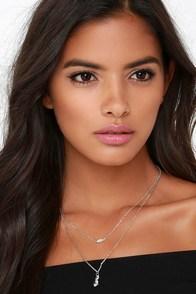 Precious Gems Silver Rhinestone Layered Necklace at Lulus.com!