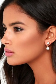 Let's Get Fancy Gold Rhinestone Ear Jackets at Lulus.com!