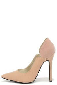 A Little Notch is Nice Blush Pointed Pumps at Lulus.com!