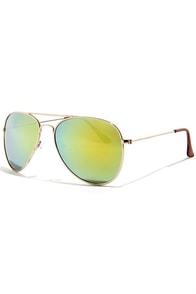 Chris Gold Mirrored Aviator Sunglasses at Lulus.com!