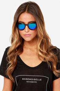 Hatch Black Mirrored Sunglasses at Lulus.com!