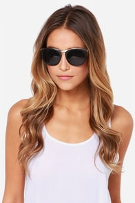 Ryder Gold and Black Sunglasses at Lulus.com!