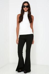 Fair's Flare Black Flare Pants at Lulus.com!