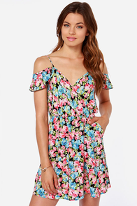 My Beau-quet Black Floral Print Dress at Lulus.com!