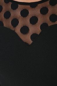 In Hot Dot-ter Long Sleeve Black Dress at Lulus.com!