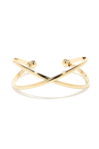 Cross X-amined Gold Bracelet at Lulus.com!