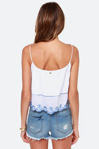 O'Neill Jo White Tank Top at Lulus.com!