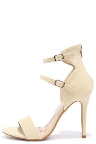 Change In Altitude Nude Suede Dress Sandals at Lulus.com!