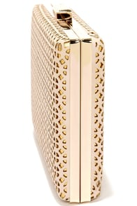 Filigree-sed Lightning Cream and Gold Clutch at Lulus.com!