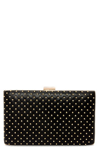 True Stud Studded Black Clutch at Lulus.com!