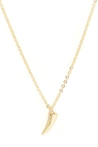 Just Claws Gold Claw Necklace at Lulus.com!