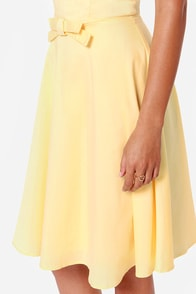 Sweet to Live Strapless Yellow Dress at Lulus.com!