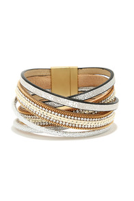 Sparkle and Shine Silver Cuff Bracelet at Lulus.com!
