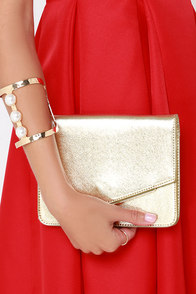 Seal Your Fate Gold Clutch at Lulus.com!