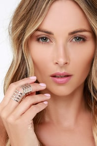 Bionic Woman Silver Cage Ring at Lulus.com!