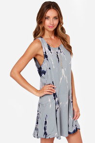 LULUS Exclusive Free For All Grey Tie-Dye Dress at Lulus.com!