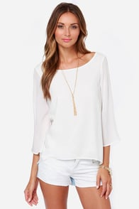 Recipe For Success Ivory Top at Lulus.com!