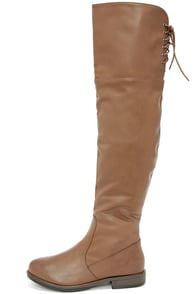 Out West Taupe Over the Knee Boots at Lulus.com!