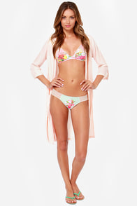 Private Arts Budding Romance Mint Floral Print Bikini at Lulus.com!