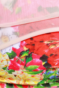 Private Arts Budding Romance Mint Floral Print Bikini at Lulus.com!