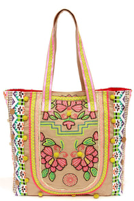 Season of the Stitch Embroidered Beige Tote at Lulus.com!