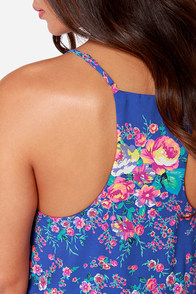 Rose Before Bros Blue Floral Print Dress at Lulus.com!