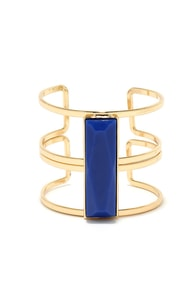Stepping Stone Blue and Gold Bracelet at Lulus.com!
