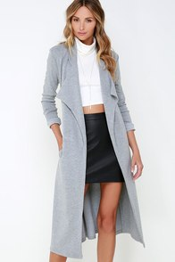 The Fifth Label Sanctuary Heather Grey Belted Coat at Lulus.com!