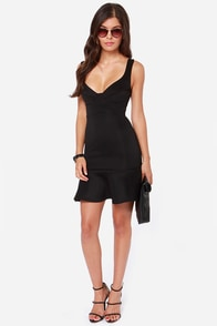 First Date Black Dress at Lulus.com!