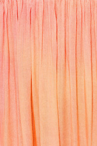 O'Neill Tory Strapless Peach Maxi Dress at Lulus.com!