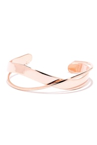 Around the Bend Rose Gold Bracelet at Lulus.com!
