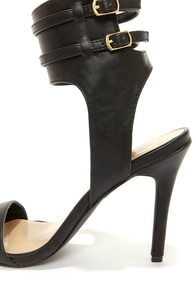 Milan 11 Black Ankle Cuff Dress Sandals at Lulus.com!