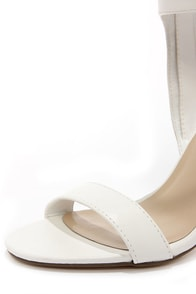 Milan 11 White Ankle Cuff Dress Sandals at Lulus.com!
