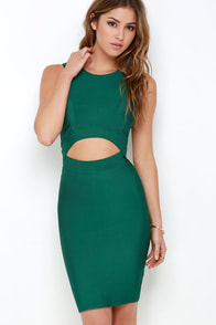 Flirtini Green Bodycon Dress at Lulus.com!
