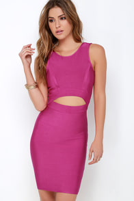 Flirtini Magenta Bodycon Dress at Lulus.com!